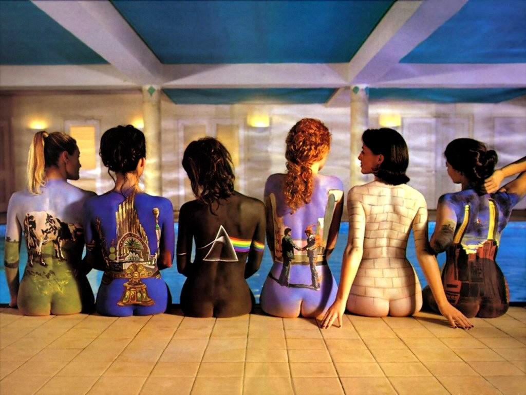 Portades dels discos de Pink Floyd dibuixades a la pell