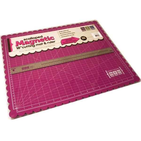 tapis de coupe magnetique et regle aimantee 47 5 x 37 5 cm
