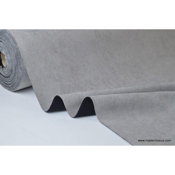 tissu isolant thermique occultant gris