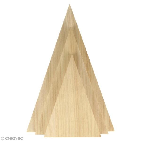 triangles en bois a decorer 3 pcs