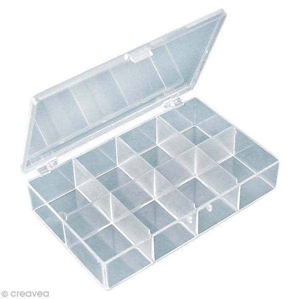 boite de rangement rectangulaire de 8 compartiments