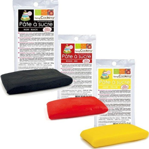 kit de pate a sucre allemagne noir rouge jaune