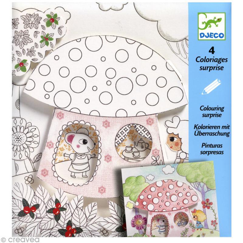 Djeco Petits Cadeaux Coloriages Surprises Poucette
