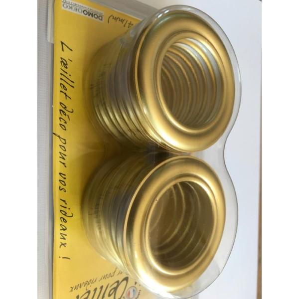 oeillets pour rideaux a clipser lot de 8 coloris or dore 701 o 41mm