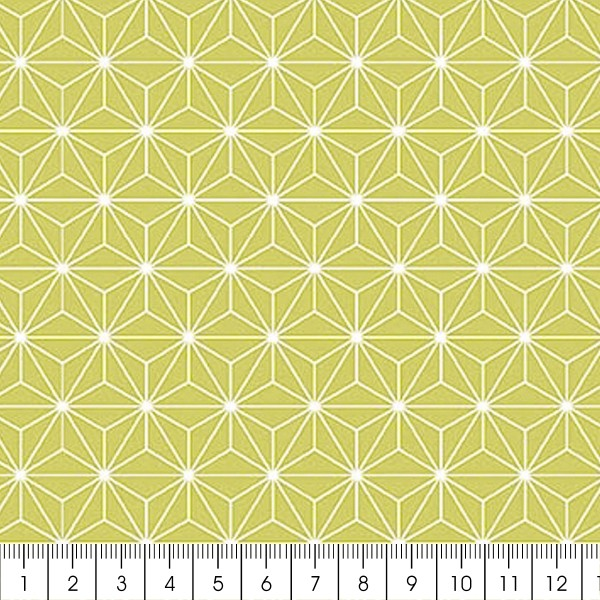 grand coupon de tissu coton microfibre motif etoile scandinave vert 300 x 160 cm