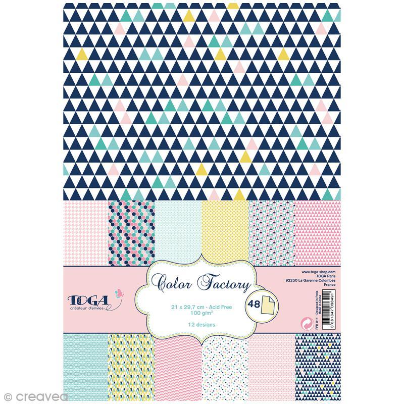 Papier Scrapbooking Toga Color Factory Gomtrique