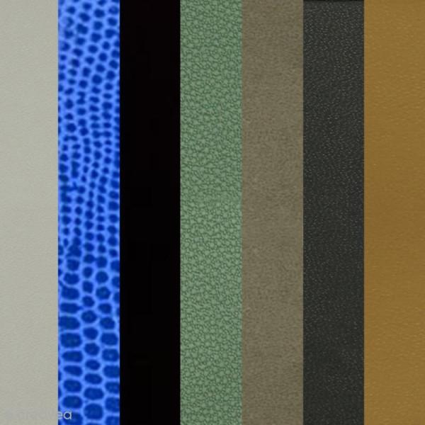 papier skivertex simili cuir feuille adhesive 30 x 30 cm skivertex creavea