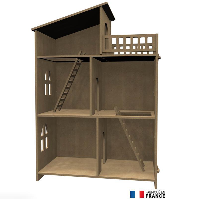 Kit Maison De Poupe En Bois Dcorer Meuble Miniature