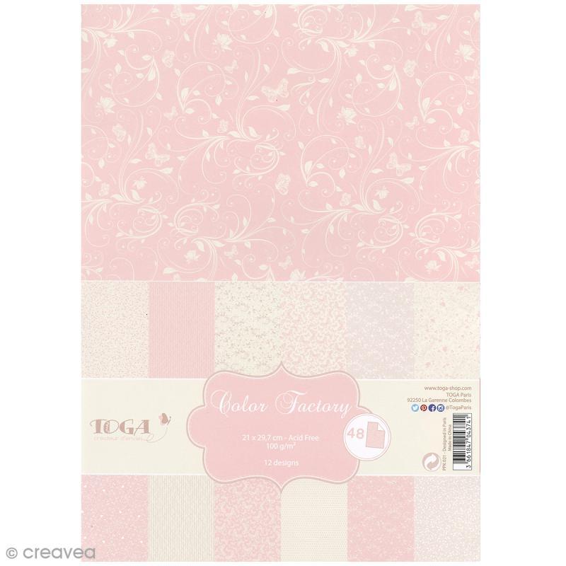Papier Scrapbooking Toga Color Factory Romantique 48