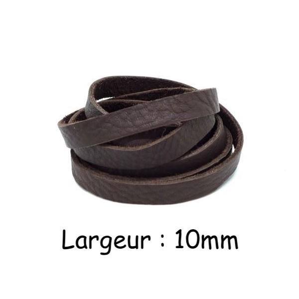 2m laniere cuir souple 10mm marron fonce ideal creation couture bracelet porte cle