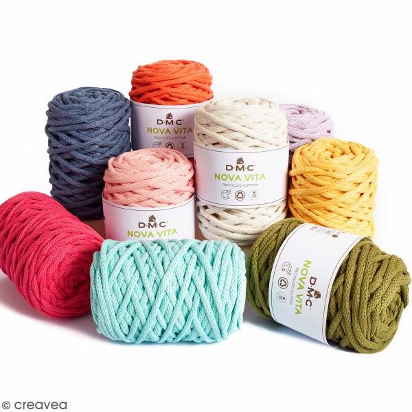 fil dmc coton recycle nova vita macrame crochet tricot 250 g coton a crocheter creavea