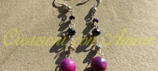 orecchini fatti a mano modello Violetta