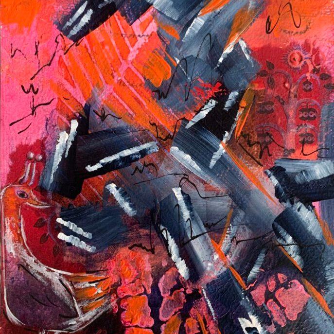 abstract - mixed media