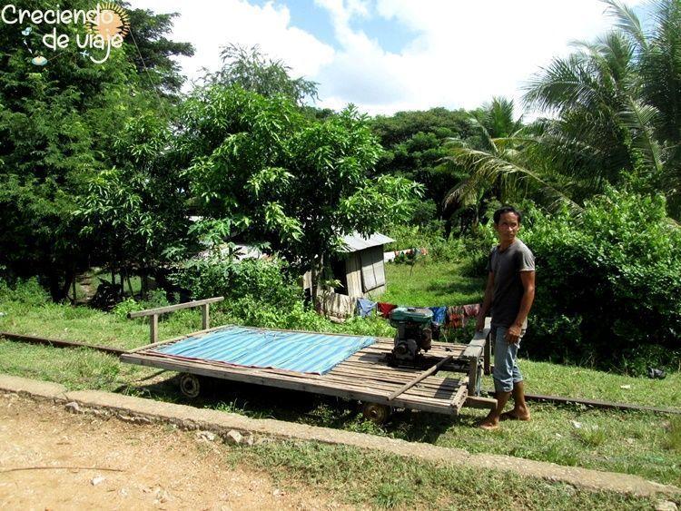 tren de bambú battambang