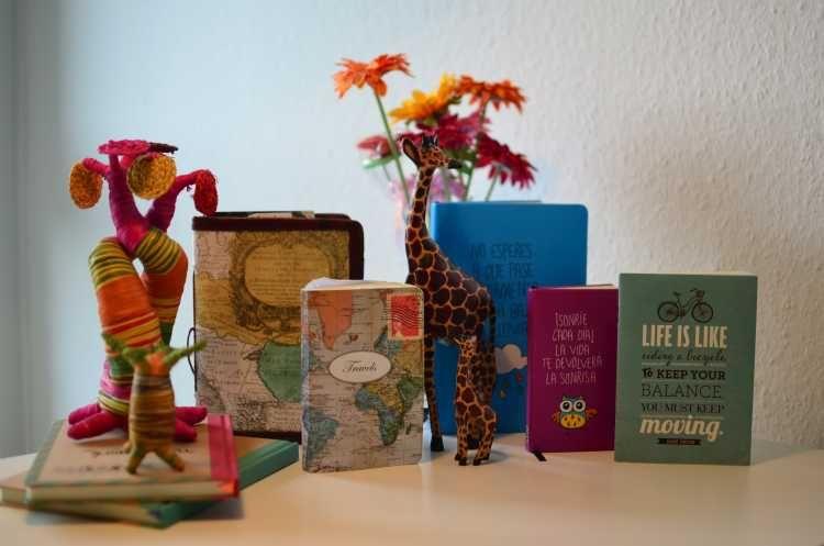 colección de cuadernos de viaje