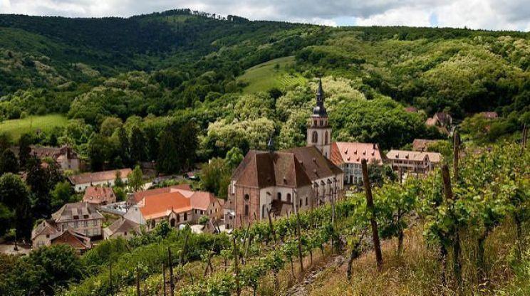 Andlau en la ruta de los vinos