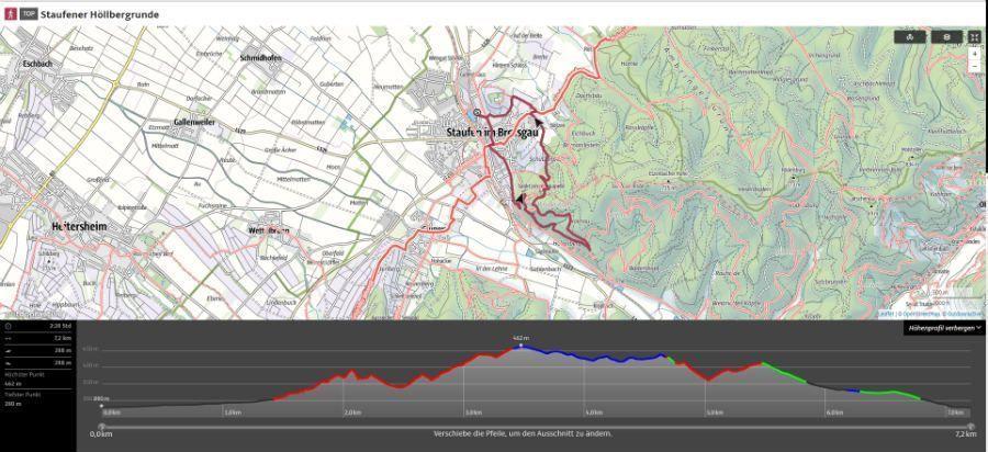 ruta senderismo Staufen