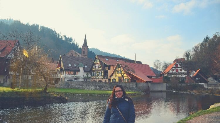 vistas del río kinzig en Schiltach