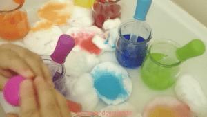 Bandeja experimentación colores