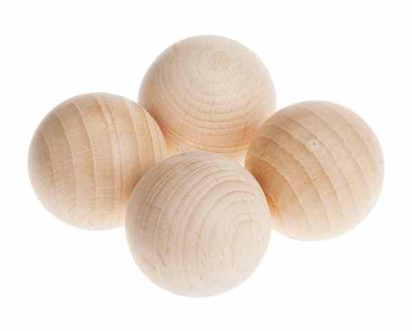 bola madera cesto tesoros