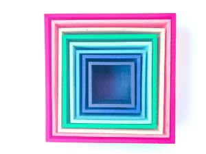 Cubos arcoiris apilables
