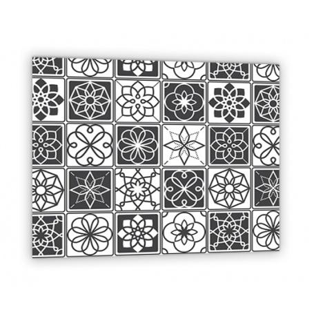 Credence Effet Carreaux Ciment Noir Blanc Credence Cuisine Deco