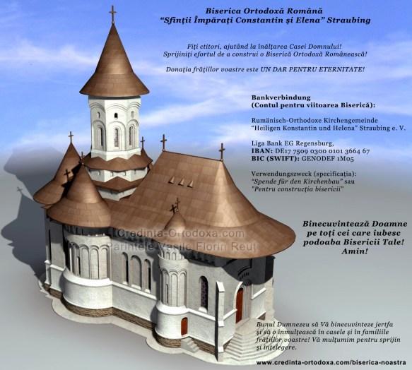 Fiti ctitori, ajutand la inaltarea Casei Domnului. Va rugam sprijiniti efortul nostru de a construi o Biserica Ortodoxa Romaneasca in Straubing * www.credinta-ortodoxa.com