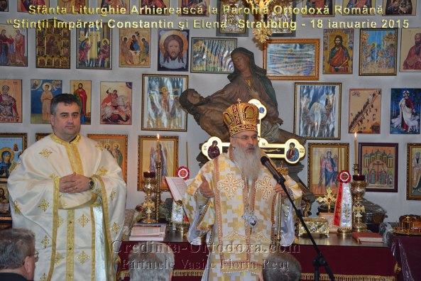 """Bischöflichen Segen in die rumänisch-orthodoxe Kirchengemeinde """"Heiliger Konstantin und Helena"""" Straubing"""