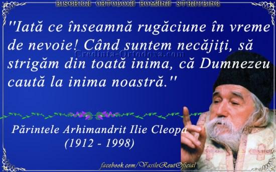 Despre rugaciune - Parintele Arhimandrit Cleopa Ilie
