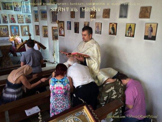 Taina Sfantului Maslu la Biserica Ortodoxa Romana din Straubing