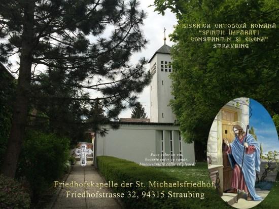 Biserica Ortodoxa Romana Sfintii Imparati Constantin si Elena din Straubing - Adresa: Friedhofskapelle der St. Michaelsfriedhof, Friedhofstraße 32, 94315 Straubing