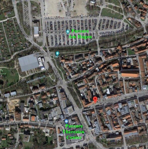 Locuri de parcare - Biserica Ortodoxă Română Straubing