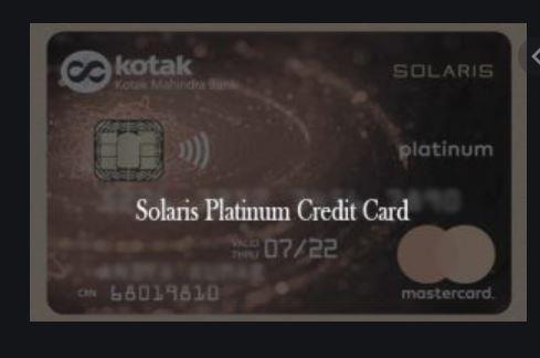 Solaris Platinum Credit Card