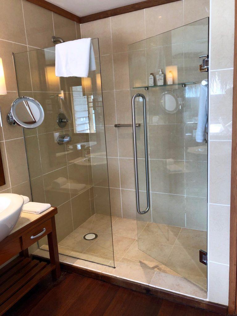 Conrad Maldives Superior Water Villa Bathroom
