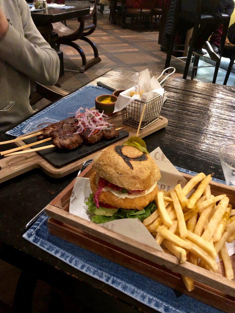 Food at Qespi at the JW Marriott Cusco