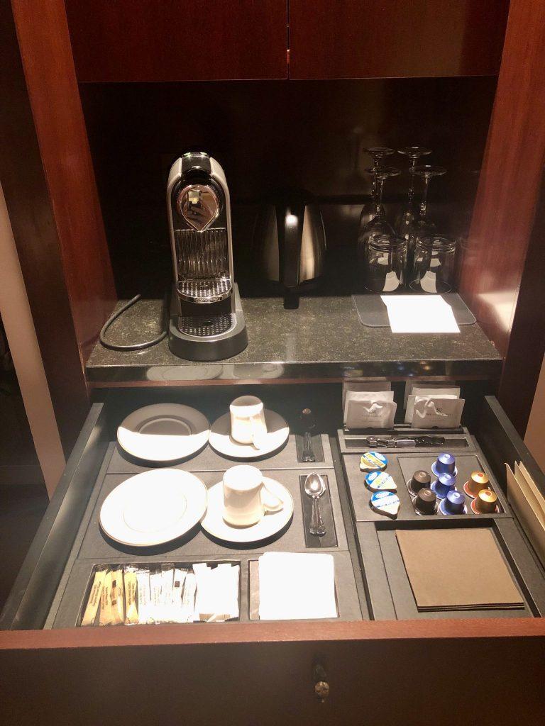 Nespresso maker in Park Hyatt Paris King Deluxe Room