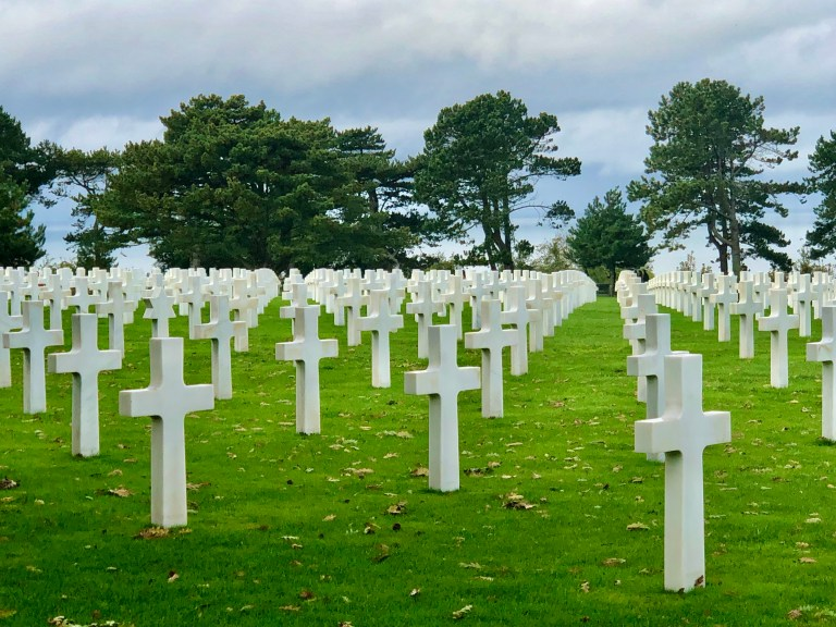 Normandy American Cemetery Grave Markers