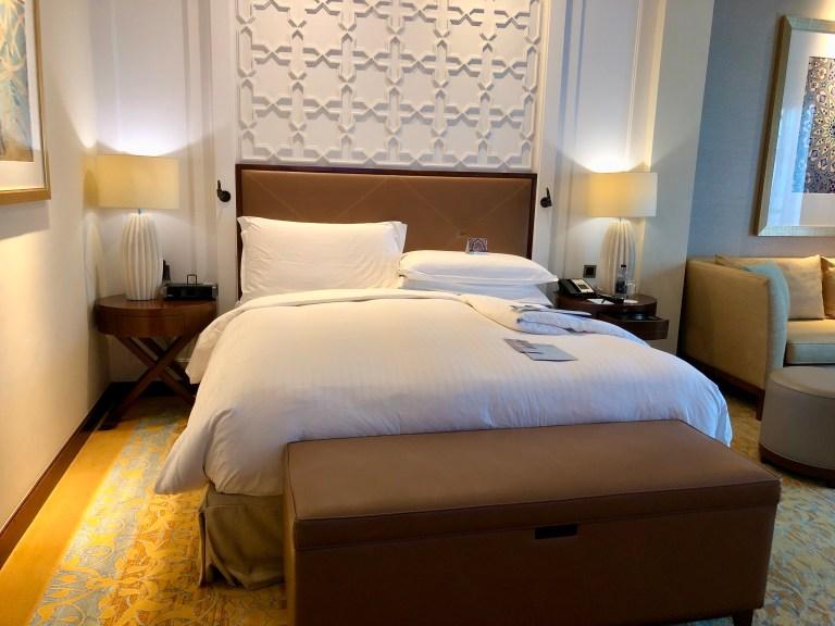 Ritz-Carlton Dubai Deluxe Room Bed