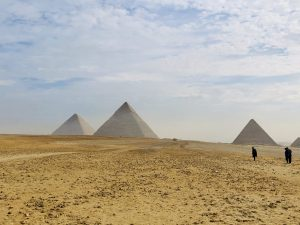 Visiting the Pyramids of Giza from Cairo