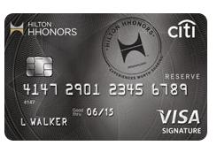 Citibank Hilton HHonors Reserve Credit Card