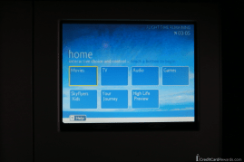 British Airways Business Class IFE Screen