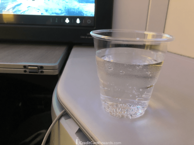 Air Canada Business Class Pre-Departure Beverage