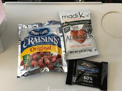 Alaska Airlines Premium Class Free Snacks
