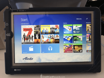 Alaska Airlines Premium Class In-Flight Entertainment
