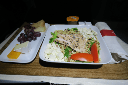Delta One 767 Business Class Meal