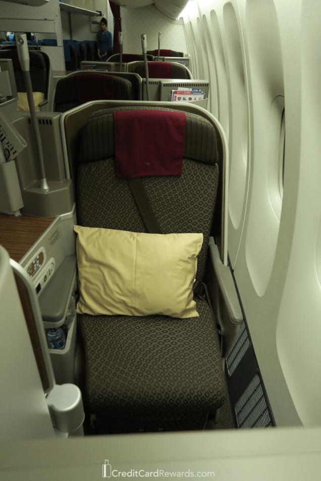 Private window seat Garuda Indonesia Business Class