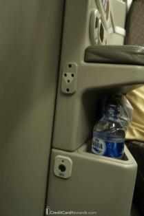 Garuda Indonesia Business Class Headphone Jack and Storage