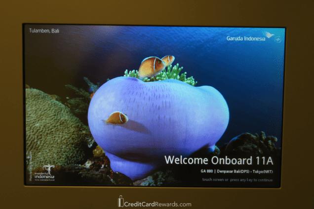 Garuda Indonesia Business Class IFE Screen