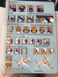 IndiGo Airlines safety card