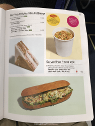 IndiGo Airlines food menu